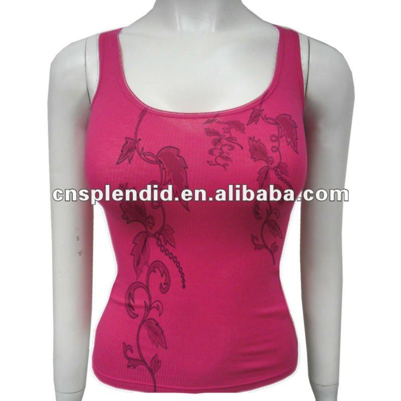 SEXY sleeveless cotton leisure women red tank tops / vests