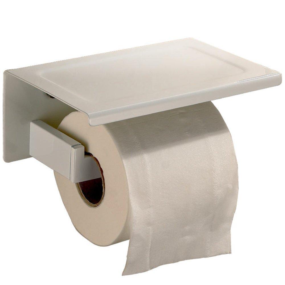 Toilet Paper In Stainless Steel Rack Home Hotel, Door-Paper Napkins Multi Pendant Functional Equipment - Wall - Door-White Roller,Mounted