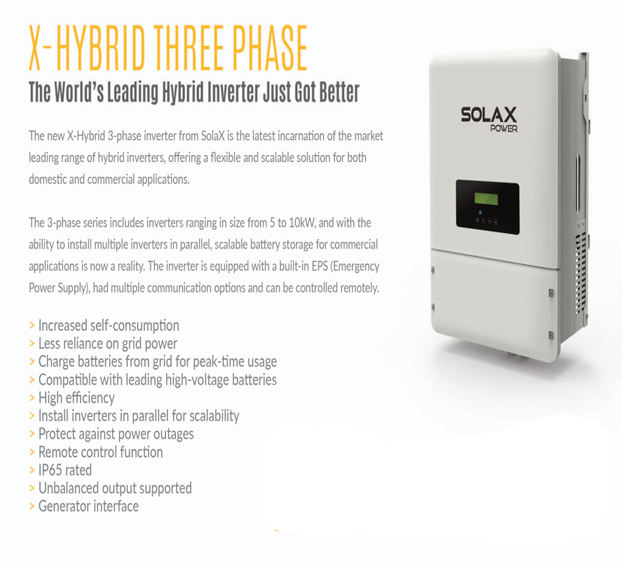 Solax 5kw 3 Phase Inverter