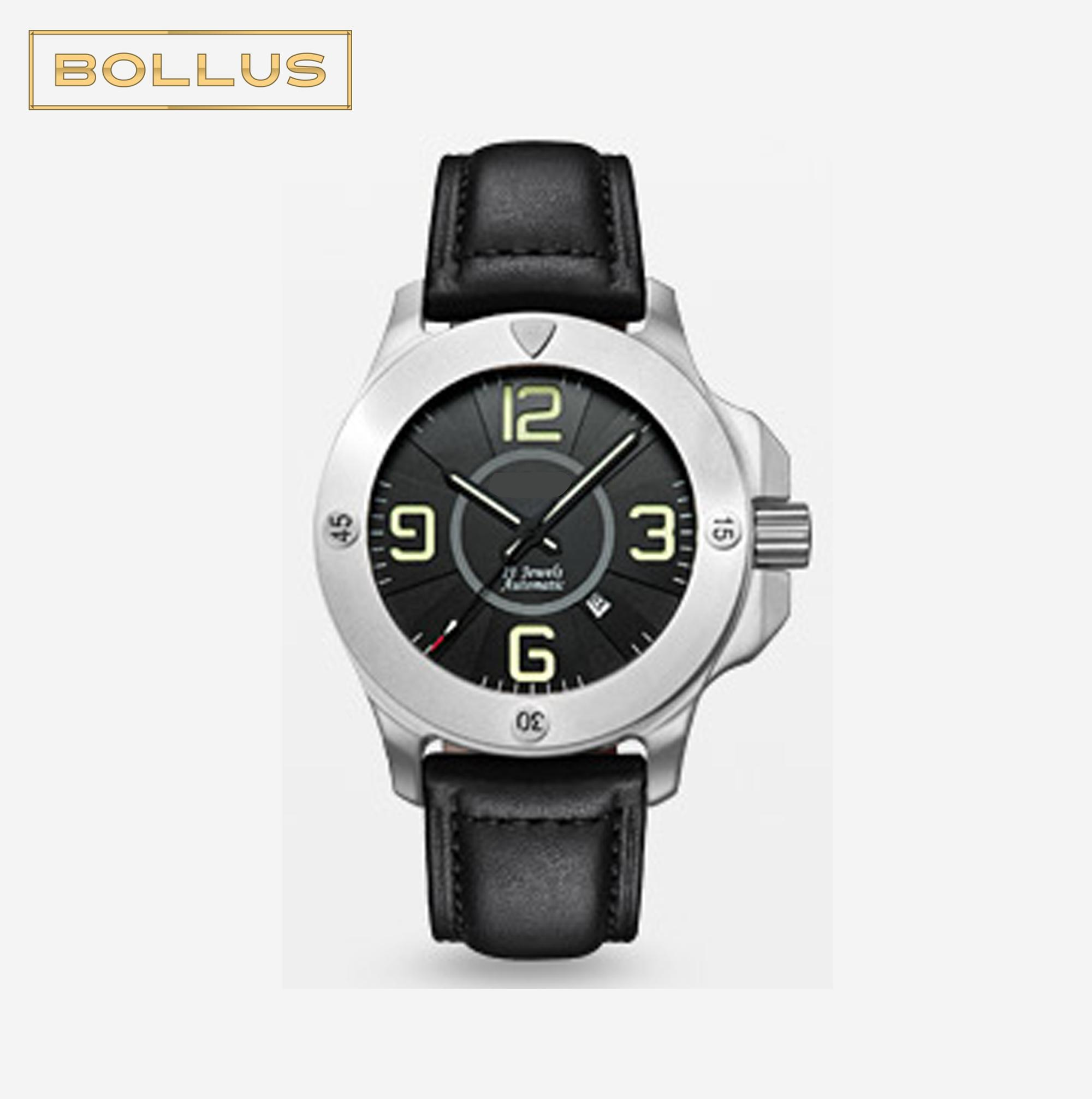 in mechanical watch fashion leather chinese white genuine black from item clock dragon wrist men watches automatic hands luminous display forsining band