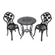 Wholesale garden 2 chairs and 1 table white bistro set