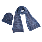 Wholesale cotton knitted women winter hat and scarf set