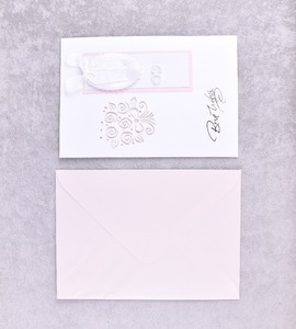Chinese Simple Style Wedding Blank Paper Invitation Card New Type
