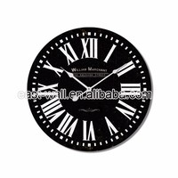 Hot Selling Black Classic 60cm Wooden Wall Clock,Wooden Clock,Frame Wall Wood Clock