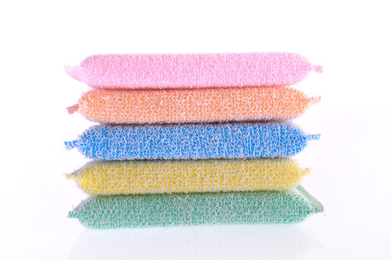 Dish Washing Cloth With Sponge Inside Small Kitchen