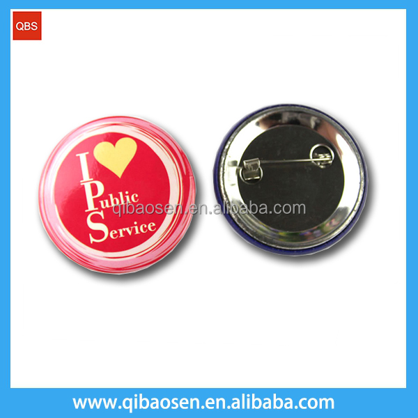 Customer promotion OEM design pin badge / round button metal badge set