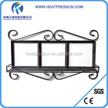 Wrought Iron Picture Frame With Sublimation Tile For Decoration