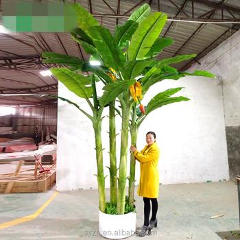 Favorable Design Plastic Artificial Indoor Decorative Banana Tree ...