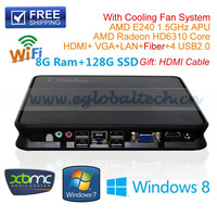 MIni PC Window s Linux Unix Ubuntu Embedded Computer AMD E240 Radeon HD6310 Core Hd Graphics HOMI 1080P