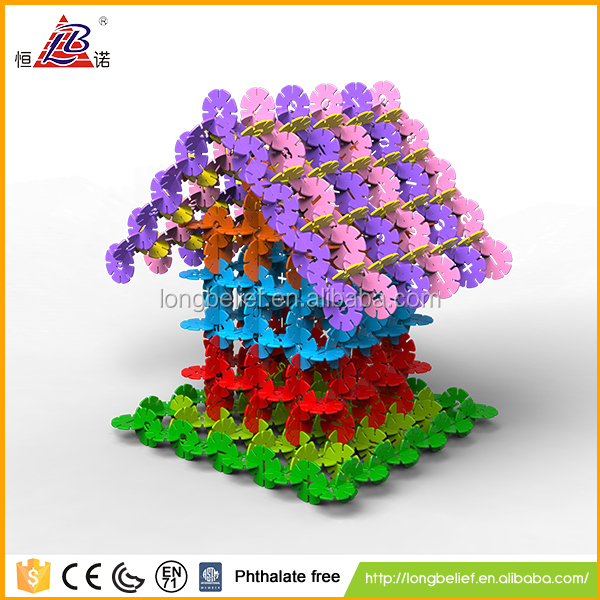 350pcs plastic snowflake intelligence building blocks puzzle game children toys