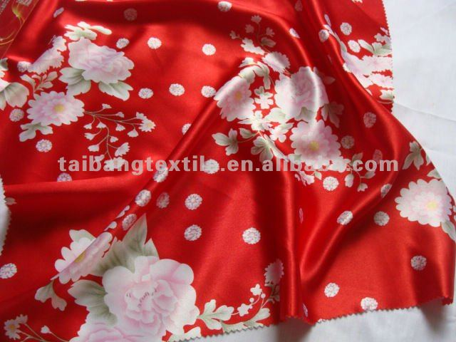 Polyester Tiger Skin Satin Lining fabric for clothes, dress, coat, scarf