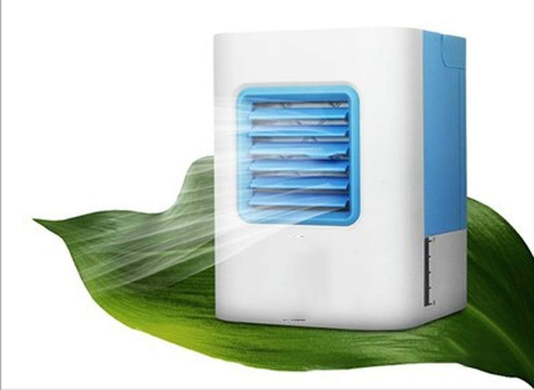 Mini Fan Mini Air Conditioner USB Charging Portable Air Cooler For Office, Bedroom, Living Room (Color : White blue)