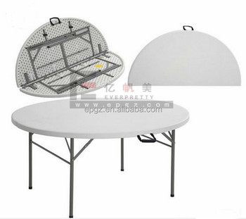 Modern Cheap New Design Folding Dining Table Hard Plastic Table Cover  Plastic Outdoor Table Tops