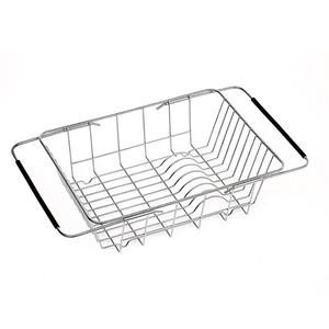 Dish rack stainless steel Creatwo Over Sink Dish Drying Rack Adjustable Dish Drainer for Kitchen Counter