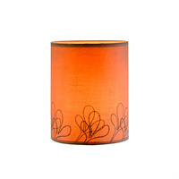 Fashion design Embroidery amber fabric table lamps lamp shade for home decor