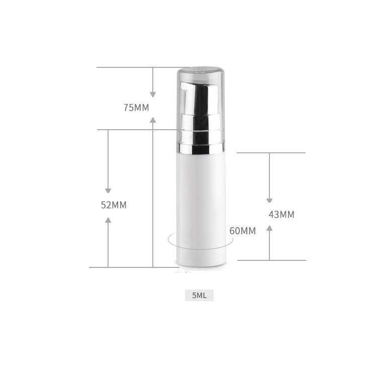 5ml/10ml duck mouth vacuum emulsion press bottle with bright silver white duck mouth cap good for travel portable packing bottle