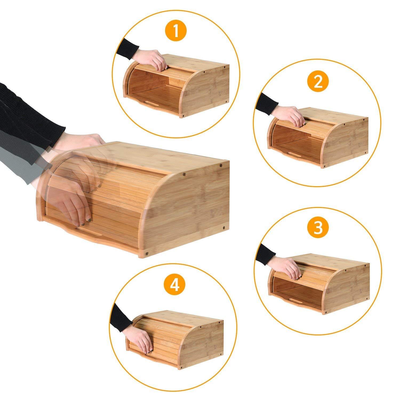 Bamboo Kitchen Food Bread Storage Box MSL Details 7