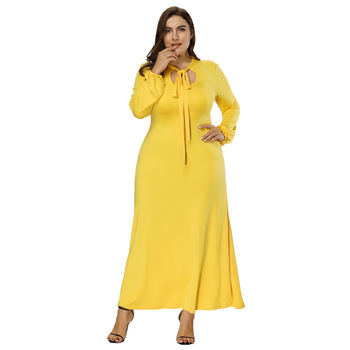 Hanna Nikole Plus Size Women\'s Long Sleeve Hollowed Front Yellow ...