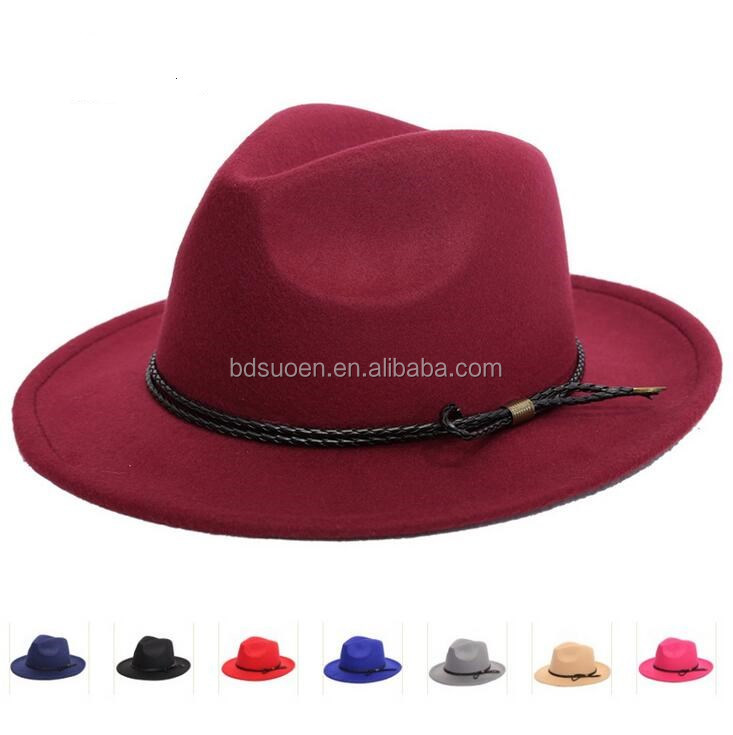 Wholesale Cheap Winter Fake Wool Panama Hat Wide Brim Fedora For Men ... e55fa9dbc695