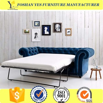 Antique European Sleeper Chesterfield Sofa Bed