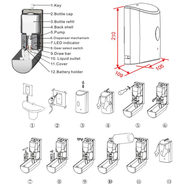 Body Wash Electric Pump Soap Dispenser