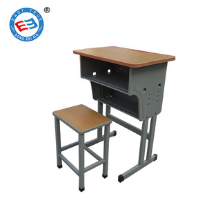 Study table and chair set college classroom furniture height adjustable student desk and chair