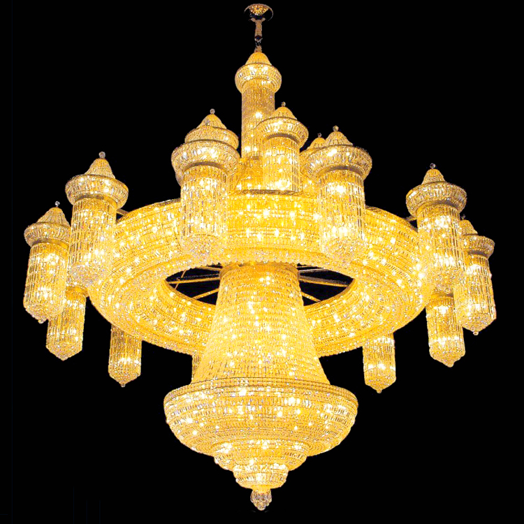 Luxury Five-Star Hotel Chandelier Decorative Big Chandelier Crystal Lighting for Mosque