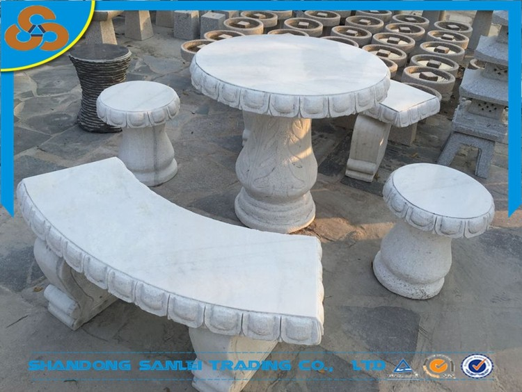 Great Stone Garden Table And Benches, Stone Table And Bench Set