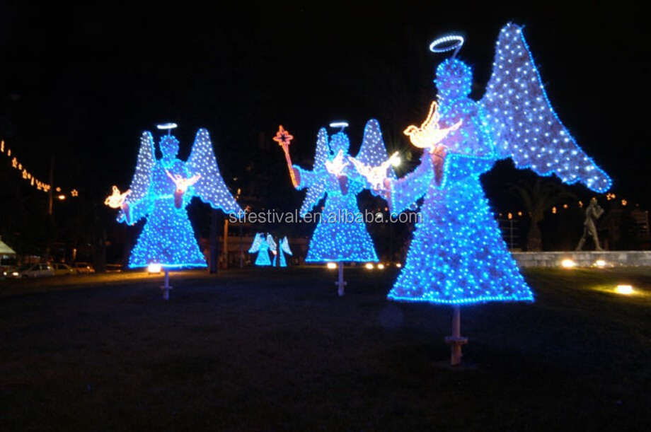 2015 Outdoor Christmas Decorations Led Lighted Angel - Buy Led ...