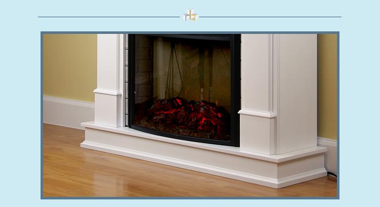 48 Quot Boston Freestanding Mdf Fireplace Mantel Surround Led