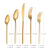 18/10 high grade stainless steel flatware, gold cutlery set