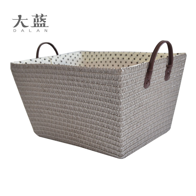 High quanlity cheap plastic pp picnic basket with PVC handles