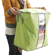 Amazing Storage Box Portable Foldable Clothing Organizer Non Woven Clothing Storage Box for Blanket Pillow Underbed Bedding