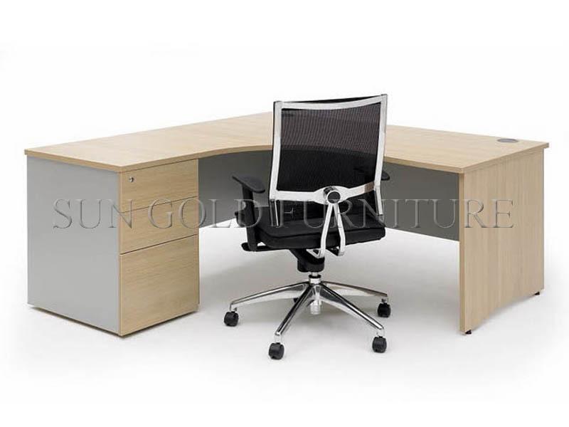 Coin moderne mobilier de bureau de luxe bureau en forme de l sz