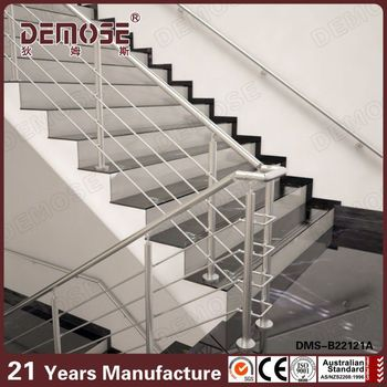 Stainless steel staircases handrails design interior stair railing buy stair railing interior for Stainless steel railings interior