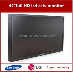 OEM good quality Samsung/LG screen 42 inch 1080p security lcd monitor for cctv use
