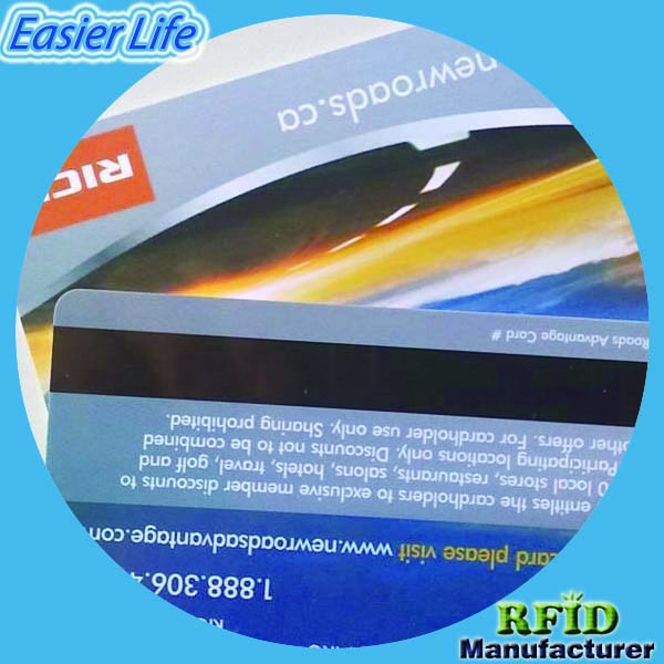 Contactless plastic hico magentic stripe card with chip combo card