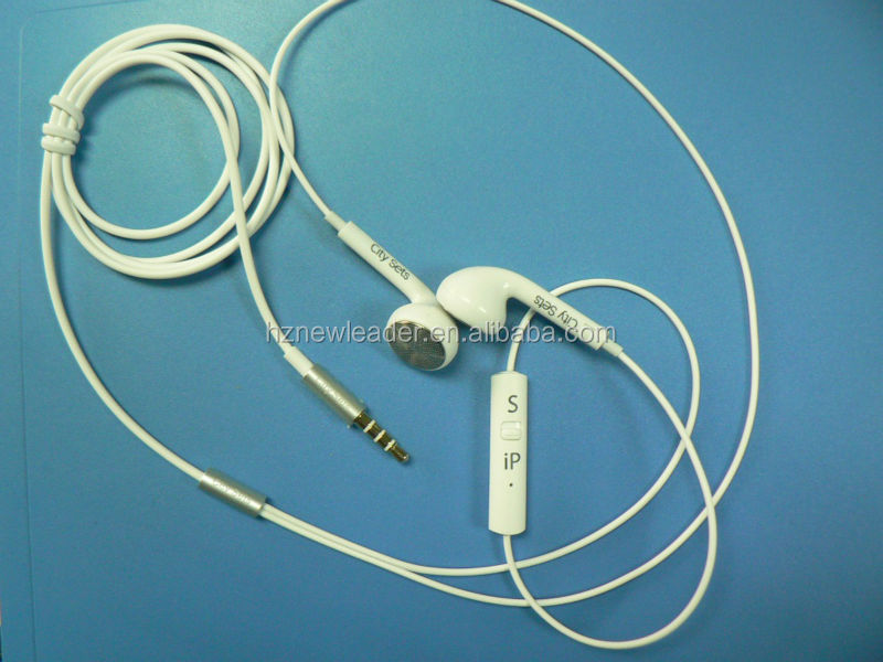 hands free compatible with both of Sam and iapple and smartphone new designed deep bass metal earphone