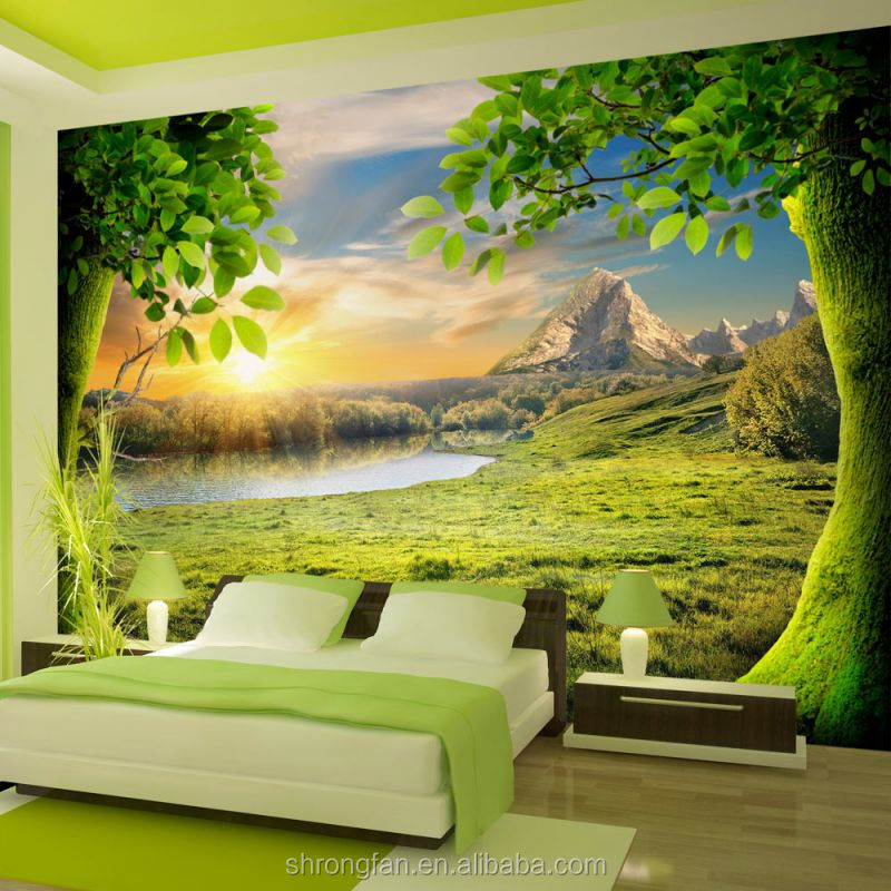 Removable Waterproof Beautiful Wall Paper 3d Mural Wallpaper