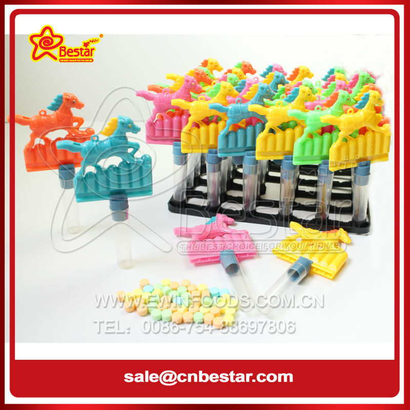 Lovely Horse Shape Whistle Toy Candy