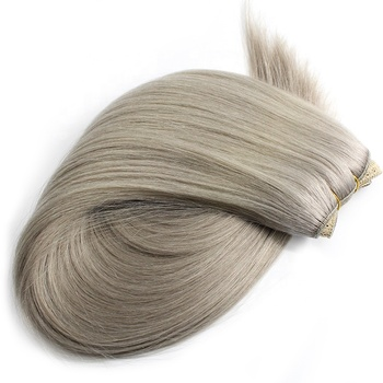 Very Thick Double Drawn Remy Hair Human white bundle hair extensions
