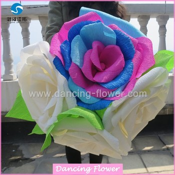 Wedding bridal large rose crepe paper flowers buy crepe paper wedding bridal large rose crepe paper flowers mightylinksfo