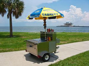 Good discount food kiosk/ crepe cart mobile hot dog cart design for sle