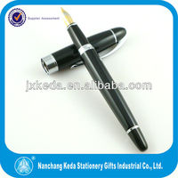 2014 Over The Top Metal gift black fountain pen Silver Cut Clip Protect Your Pocket Pen Clip