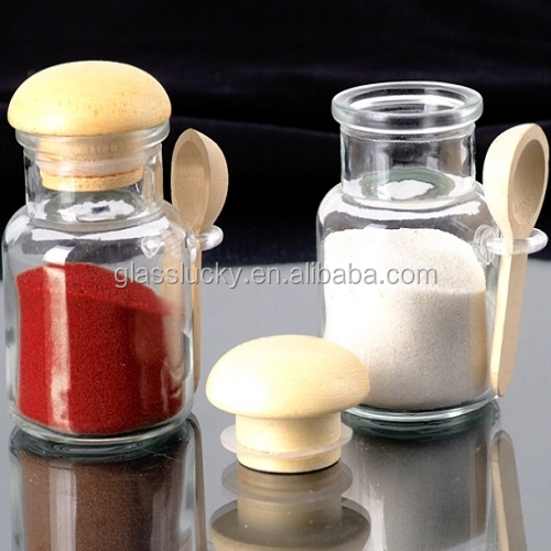 wholesale salt and pepper cruet rack set glass spice jar - Glass Spice Jars