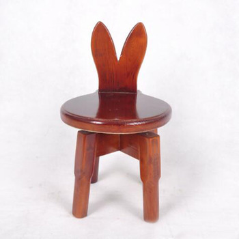 Animal Shape Wooden Seat Bar Stool