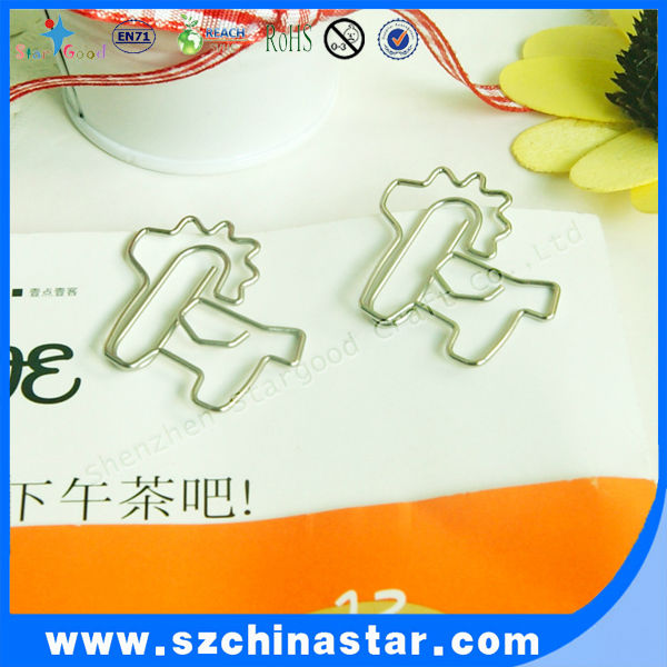 Backer card & polybag package 12pcs shape paper clip for one set