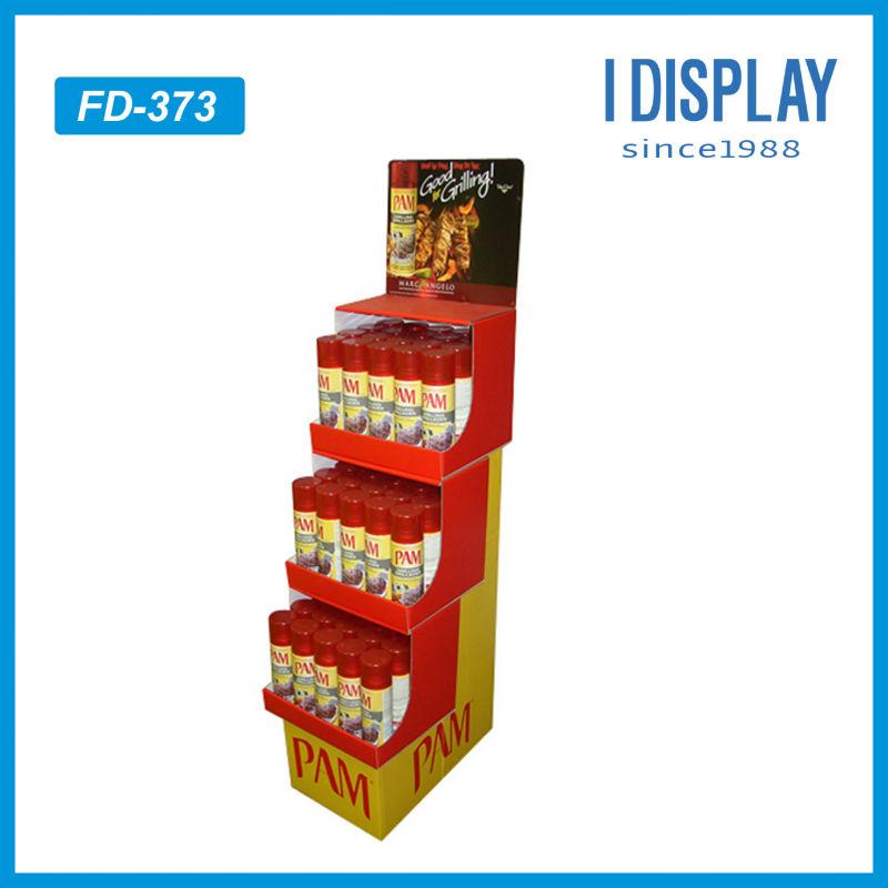 Promotional Cardboard Paper Beer Display Shelves For Supermarket ...