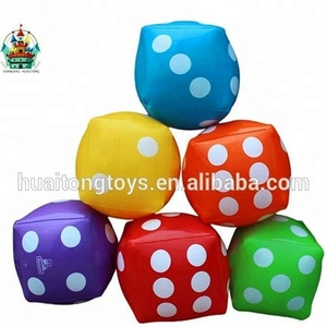 Hot customized inflatable fun city dice for advertising