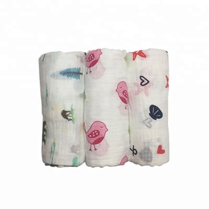 Popfish 3pcs/set Cotton Breathable Swaddle Blanket